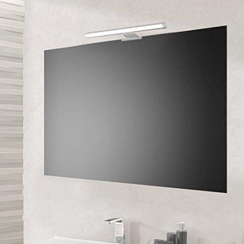 San Marco Specchio bagno 90x60 cm con lampada led da 30 cm