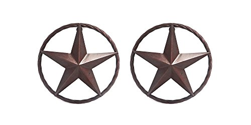 "Metal 8¼"" Star with Rope, Set of 2"