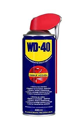 WD-40 Producto Multi-Uso Doble Acción - Spray 400ml - Aplicación amplia o precisa. Lubrica, Afloja, Protege del óxido, Dieléctrico, Limpia metales y plásticos y Desplaza la humedad: Amazon.es: Industria, empresas y ciencia