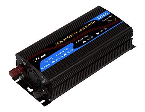 - Encocy 500w Solar on Grid Tie Inverter DC22-56v to AC90-130v Converter (DC22-56v, Black)
