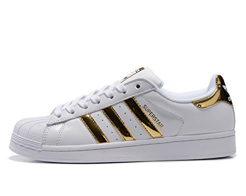 Originals Superstar Foundation women's Fashion Sneaker White/bright gold