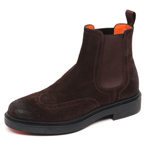 Man Brown Santoni Scuro Polacchino E0504 Marrone Suede Uomo Boot Shoe xCwg0tySqw