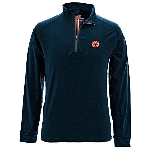 - Levelwear LEY9R NCAA Auburn Tigers Adult Men Peak Banner Stripe Quarter Zip Mid-Layer, X-Large, Navy