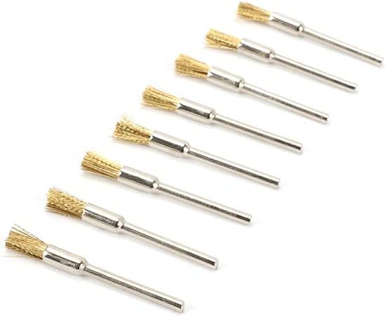 50Pcs 1 Inch Stainless Steel Wire Wheel Brushe Rust Set Rotary Tool 3MM Shank