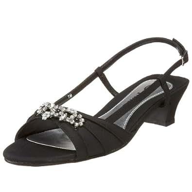 Annie Shoes Women's Lila Slingback,Black Mirco,8 WW US