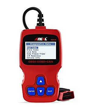 Ancel AD310 Universal OBD II Scanner Car Engine Fault Code Reader CAN Diagnostic Scan Tool, Read and Clear Error Codes - Red