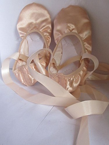 Ballet PAWS Dance Natural Womens Satin Silk Slippers With Shoes Natural Ribbons SIqSg5