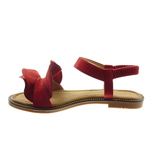con Correa Mujer Tac Moda Sandalias Volante de Zapatillas Tobillo Angkorly tBw1H0q0