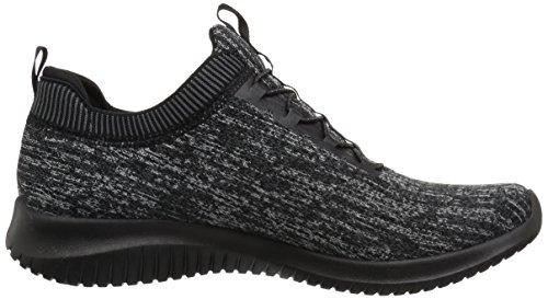 Skechers Donna Ultra Flex Brillante Orizzonte Sneaker Nero Carbone