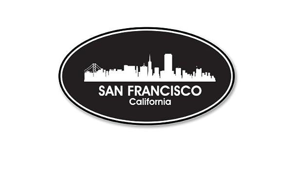 California Oval Car Vinyl Sticker SELECT SIZE