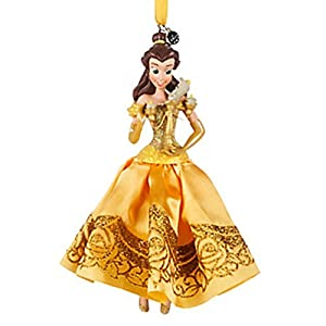 DISNEY 2016 SKETCHBOOK CHRISTMAS Ornament PRINCESS BELLE & LUMIERE NWT