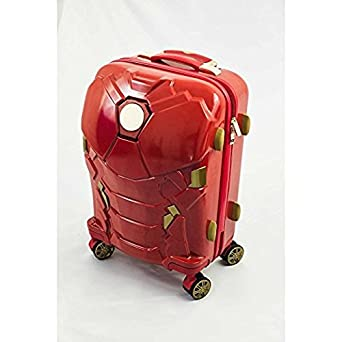 bd5d6de4414a Amazon.com | Iron Man Suit Pattern Spinner Lightweight Carry On ...