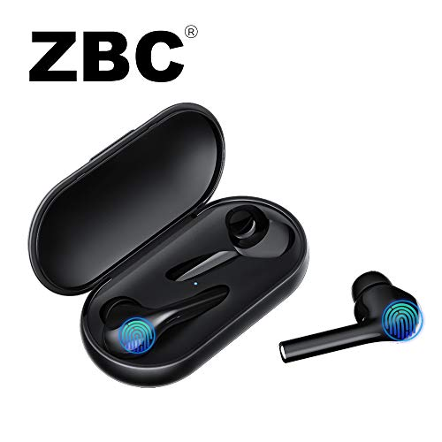 Wireless Earbuds, M6s Bluetooth Earphones V5.0 Headphones in-Ear TWS Auto-Pair Airpods Mic Charging Case Sport Running Mini True Stereo Sound High Definition Smart Touch Compatible iOS Android Samsun