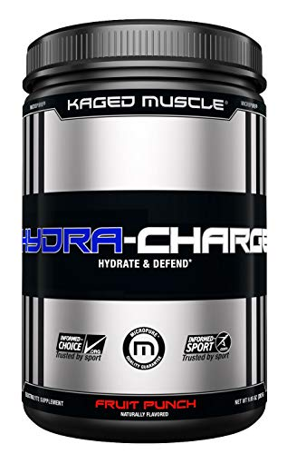 KAGED MUSCLE, HYDRA CHARGE Premium Electrolyte Powder, Hydrate, Pre Workout, Post Workout, Intra Workout, Fruit Punch, 60 Servings -