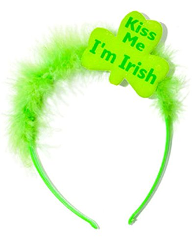 St Patricks Day Green Kiss Me I'm Irish Furry Tiara (Kiss Me I'm Irish Costume)