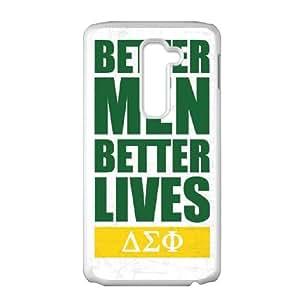 LG G2 Cell Phone Case White Delta Sigma Phi Better Men Better Lives LV7922286