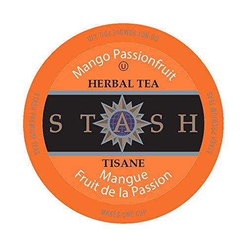 Stash Tea Mango Passionfruit Single-Cup Tea for Keurig K-Cup Brewers, 24 Count