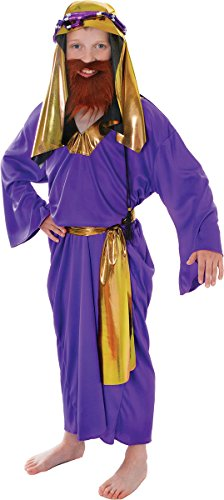 Wise Man Costume Uk (Small Purple Boys Wise Man Costume)