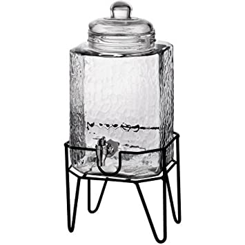 Hamburg Beverage Dispenser on Stand, 1.5 gal, Made of Glass by Stylesetter