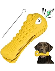 Dog Chew Toys for Aggressive Chewers Large Medium Breed, with Squeaky Aggressive Chew Toys Tough Chew Toys for Medium Large Dogs, Chew Proof Dog Toothbrush Toys Dental Care