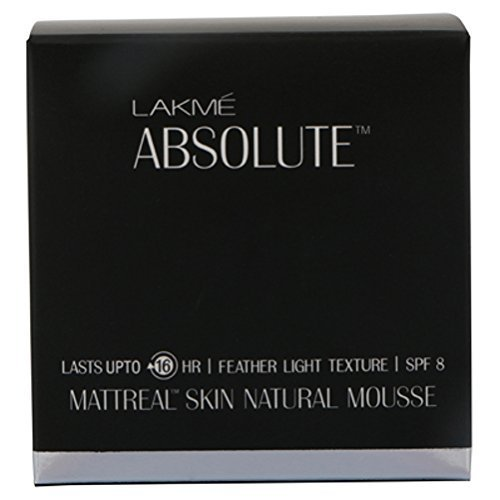 Lakme Absolute Mattreal Skin Natural Mousse - Ivory Fair 01 25g by Lakme