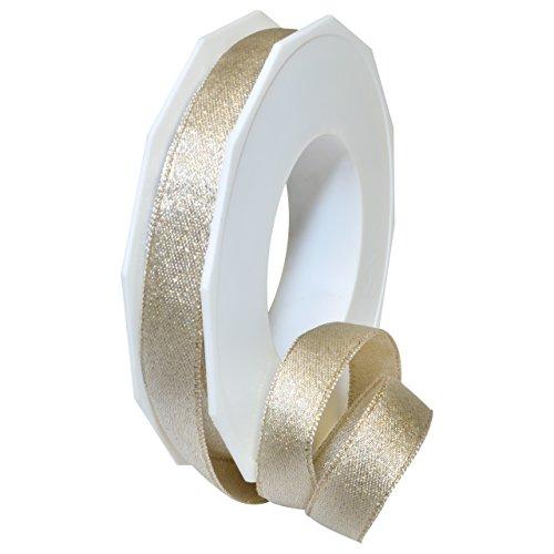 Morex Ribbon 67915/20-104 Glitter Satin Polyester Ribbon, 5/8
