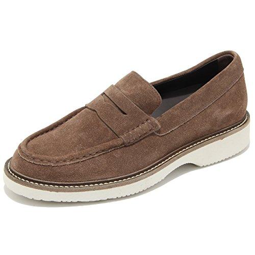 0723L mocassini uomo marroni HOGAN h217 route scarpe loafers shoes men Marrone