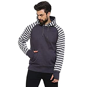 Campus Sutra Men Full Sleeve Self-Design Stylish Casual Sweatshirt