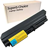 """Superb Choice 6 cell New Laptop Replacement Battery for IBM Lenovo ThinkPad T400 Series,T400 2764 ThinkPad T400 7417,T61 Series(14.1"""" widescreen),T61 1959 ,T61 6377 ,T61 6378 ,T61 6379 , T61 6480 ,T61 6481 ,T61 7658 ,T61 7659 ,T61 7660 , T61 7661 , T61 7662 , T61 7663 , T61 7664 ,T61 7665,T61p Series PN:IBM Lenovo 42T5225 43R2499 42T4530 42T4531 42T5227 42T5262 42T5264 42T5229 41U3196 42t5263 42t5230 41U3197 42T5226 [ 4400mAh 6 cells ]"""