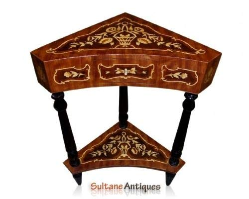 Marquetery Louis XV Style Corner Side Table ()