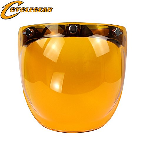 Blue Mirro Lens - ETbotu Retro 3-snap Sunscreen Sun Shield Visor Bubble Mirro for Motorcycle Helmet Face Lens