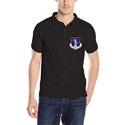 United States Air Force National Guard Men's Classic Polo Shirt Quick-Dry Golf Polo Shirt Black