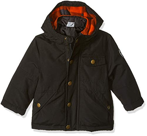Osh Kosh Baby Boys Little Man 4-in-1 Jacket, Very Very Black/Buffalo Check, 18M