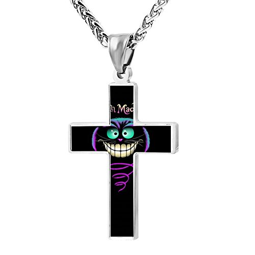 Kenlove87 Patriotic Cross Cats Religious Lord'S Zinc Jewelry Pendant Necklace -