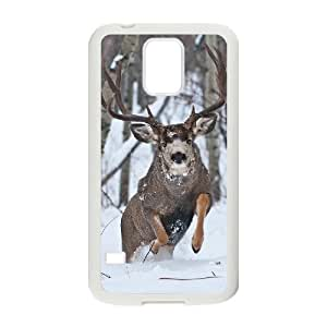 FLYBAI Deer Phone Case For Samsung Galaxy S5 i9600 [Pattern-2]