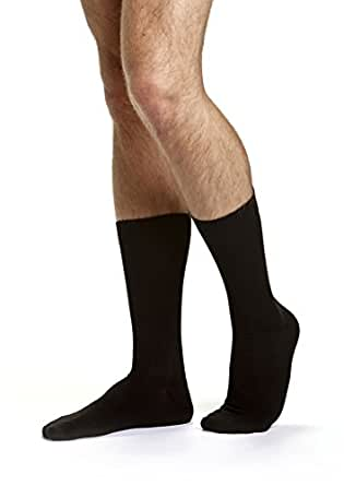 Bonds Men's Cotton Blend Everyday Crew Socks 3 Pack, Black, 6+