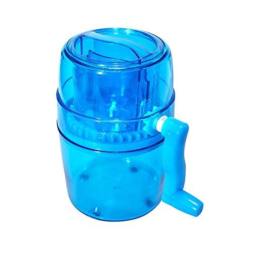 (SODIAL 1L Portable Hand Crank Manual Ice Crusher Shaver Kids Shredding Snow Cone Maker Machine Kitchen)