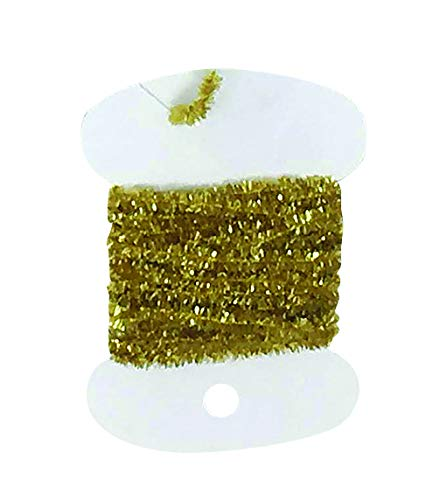 Creative Angler Flash and Tinsel Chenille for Fly Tying or Tying Flies. Variety of Colors to Choose from. (Gold)