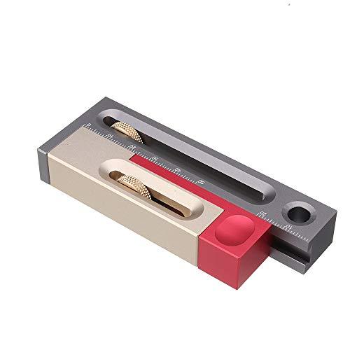 Sierra de mesa Ajustador de ranura Herramienta de mortaja y espiga Carpintería Bloque de medición móvil Tenonmaker Compensación de longitud Enrutador Configuración de mesa Herramientas para trabajar la madera