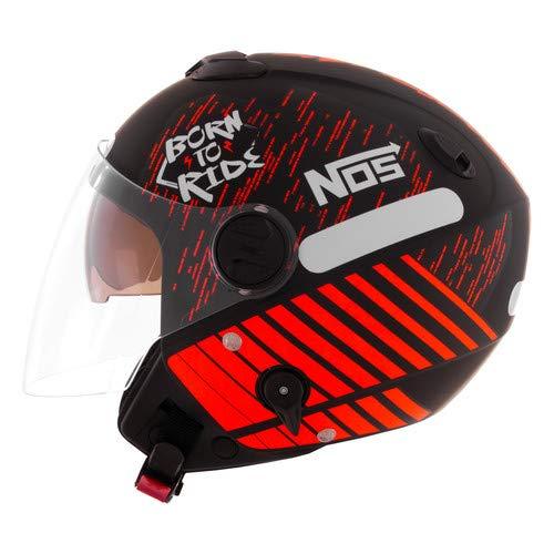Pro Tork Capacete New Atomic Nos Born To Ride 56 Preto/Laranja