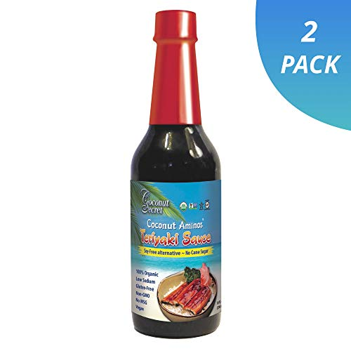 Coconut Secret Coconut Aminos Teriyaki Sauce (2 Pack) - 10 fl oz - Low Sodium Soy-Free Teriyaki Alternative, Low Glycemic - Organic, Vegan, Non-GMO, Gluten-Free - 40 Total Servings