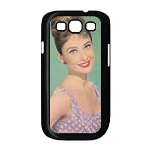 Samsung Galaxy S3 Case Audrey Hepburn for Boys, Case for Samsung Galaxy S 3 Phone Kyle5v, [Black]