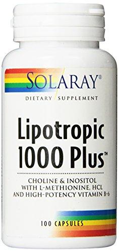 Solaray Lipotropic 1000 Plus Vitamin Capsules, 100 Count (B12 Complex Injection)