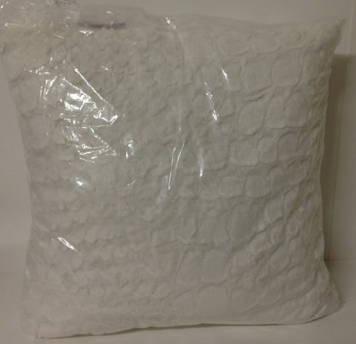 "Charter Club Animal Print Faux Fur Snakeskin Ivory 20"" Decorative Pillow"