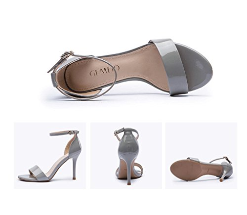 Female Elegant Stiletto Heel Summer Sexy Toe Sandals Comfortable Work Shoes Blue hHCNpRp