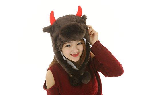 Yak Head Costume (42 styles Pets Unisex Plush Animal Hats Costume Hood Toys Performance props (long yaks-4))