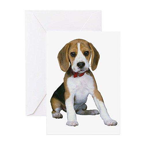 CafePress - Beagle Puppy - Greeting Card, Note Card, Birthday Card, Blank Inside Matte