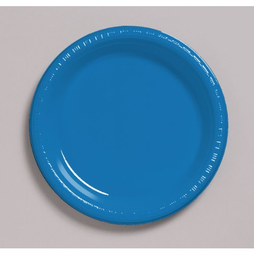 True Blue Plastic Plates - 3