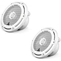 M770-TCX-CG-WH - JL Audio 7 Tower Marine Coaxial Speakers White with Classic Grills
