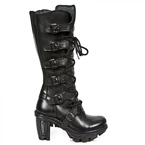 Nuovi Stivali Da Roccia M.neotr014-c1 Gotico Hardrock Punk Damen Stiefel Schwarz